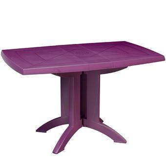 Table de jardin pliante vega prune grosfillex - Mobilier de ...