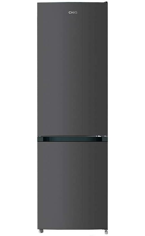 CHiQ Réfrigérateur congélateur bas - FBM250NE4 - 250L (180 + 70) - Froid ventilé - Acier inoxydable - A+