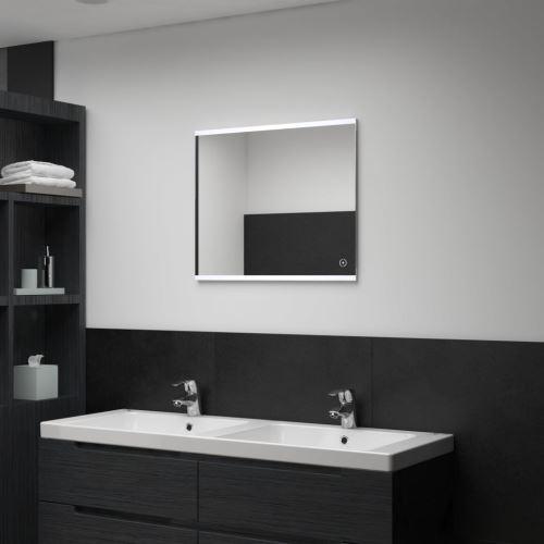Miroir mural à LED de salle de bain et capteur tactile 60x50 cm (144732)