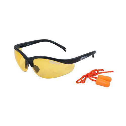 KS Tools Lunettes de sécurité avec bouchons d'oreille Jaune 310.0166