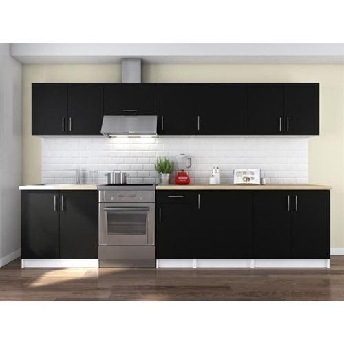 OBI Cuisine complete L 320 cm - Noir mat