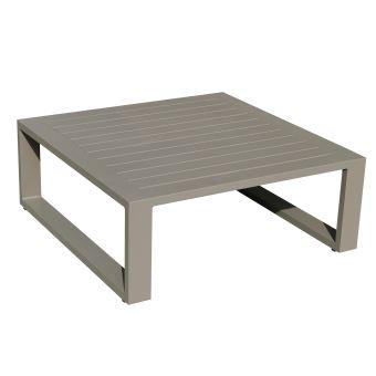 Table basse 80 x 80 en alu taupe eléra - Mobilier de Jardin ...