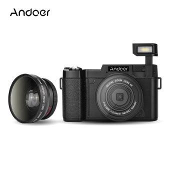 Andoer Cdr2 Appareil Photo Numérique Hd 24mp Rotatif Lcd Cam Caméscope W Objectif Grand Angle Filtre Uv