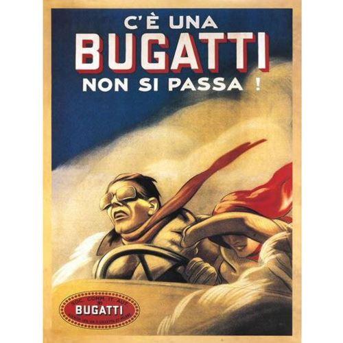 Plaque métal Bugatti