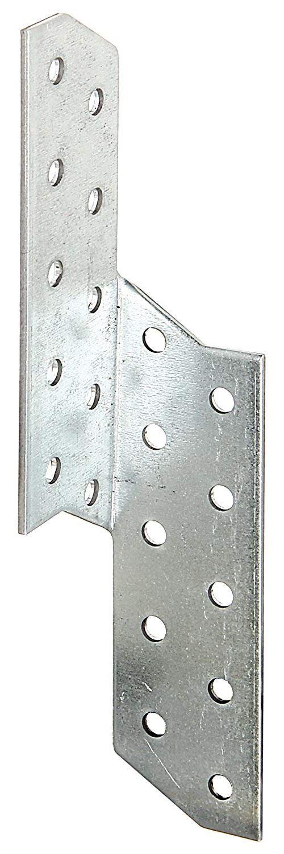 Équerre renvoyée, droite et gauche - acier, galvanisée Sendzimir, 32 x 32 x 170 mm/12 pcs
