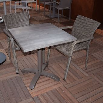 Oglio Résine Salon Chaises Tressée Pliante Alu2 Table Chêne fygb67