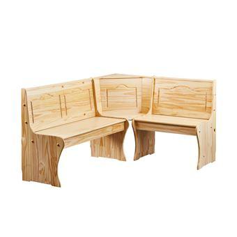 188u20ac Sur Coin Repas Table Rectangulaire Chaise Banc Banquette Meuble  Cuisine Bois NATUREL   Achat U0026 Prix | Fnac