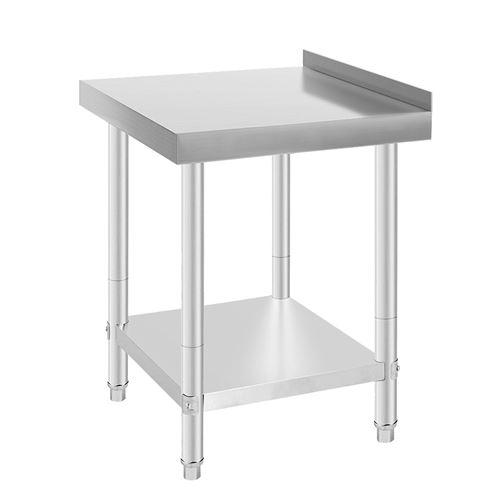 Table de travail en Acier inoxydable avec 1 étagères -61x61x90cm-Argent