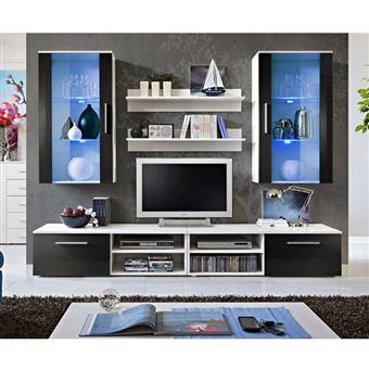 279 Sur Ensemble Meuble Tv Mural Design Galino Vii White Noir