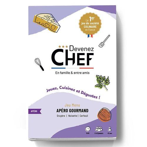 Devenez Chef - Jeu de société culinaire - Menu Apéro gourmand - Devenez Chef