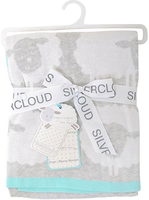 Silver Cloud Couverture Tricotée Compter les Moutons