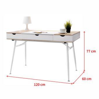 Bureau Scandinave Bureau Design Boden 120 Cm Blanc Effet