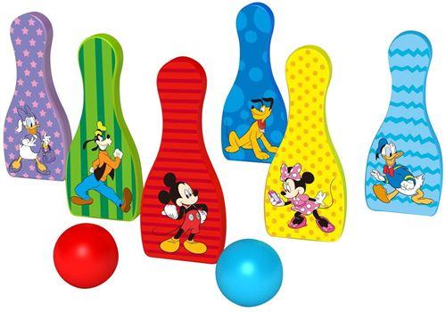 Disney quilles Mickey Mouse junior 18 cm en bois 8 pièces