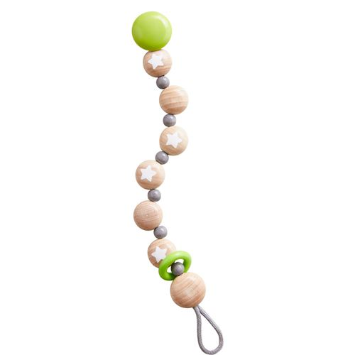 Haba sucette chaîne étoile volante junior 22 cm bois vert