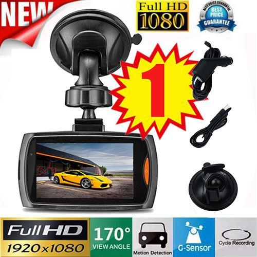 1x voiture 1080P 2.2 Dash caméra véhicule DVR Full HD Cam vidéo G-capteur Vision nocturne