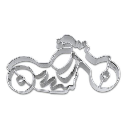 Staedter Moto gaufrage Cookie Cutter, Argent, 7 cm