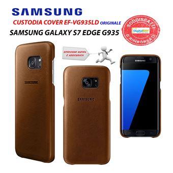 Coque Samsung en Cuir pour Galaxy S7 Edge Marron