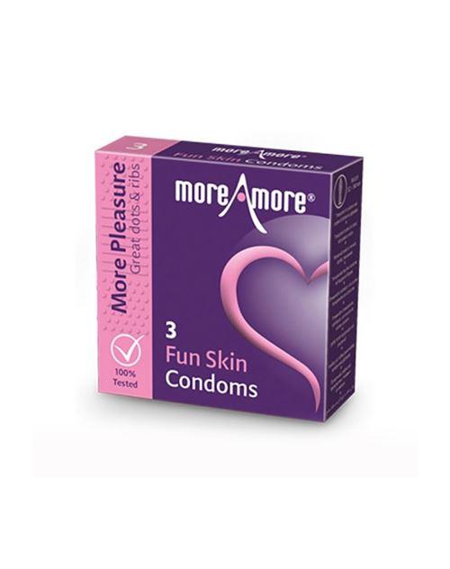 Préservatifs peau à sensations (3 pcs) moreamore 41309