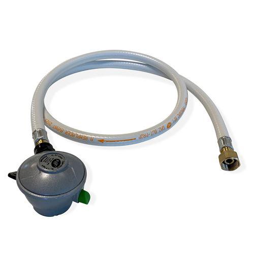 Kit Tuyau flexible de gaz 1.5 m à embouts mécaniques + Détendeur Quick-on Ø20mm Propane 37mbar 1.5kg/h. raccord rapide – Normes NF