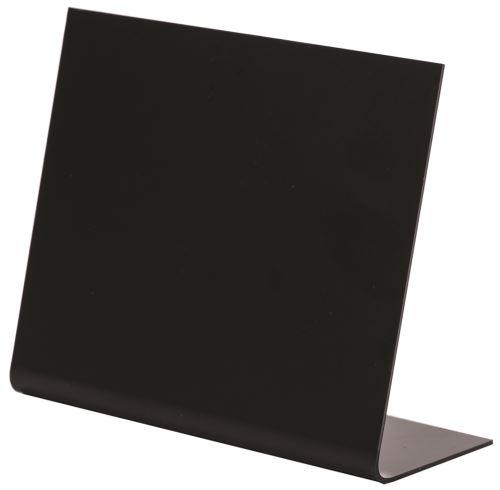 10 chevalets pvc noir 7x6cm