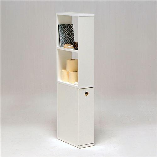 Meuble de toilettes ALASKA 1 tiroir - 2 niches / Blanc