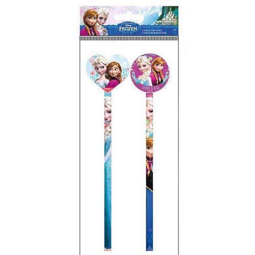 2 Crayon A Papier Gomme Reine Des Neiges Frozen Papeterie Disney