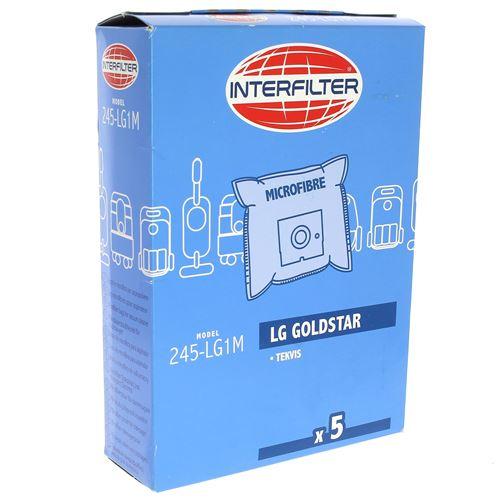 Sacs aspirateur par 5 microfibre pour Aspirateur Lg