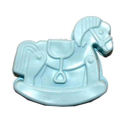 Moule a tarte cheval en silicone gâteau patisserie bleu