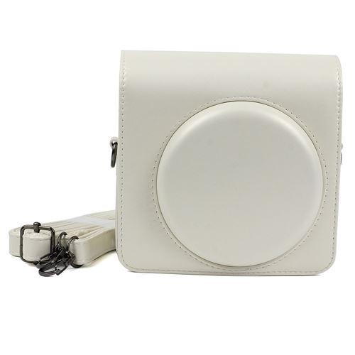 Étui de protection en cuir PU pour Fujifilm Instax Square SQ6 - Blanc