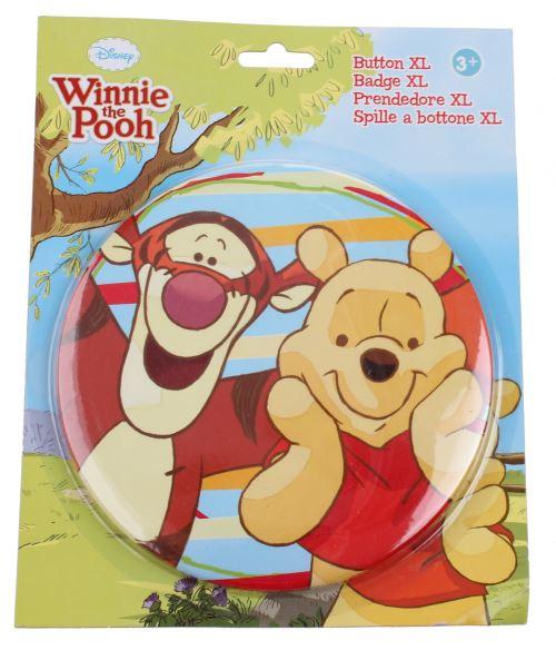 Disney bouton XL Winnie l'ourson Winnie 14 cm multicolore