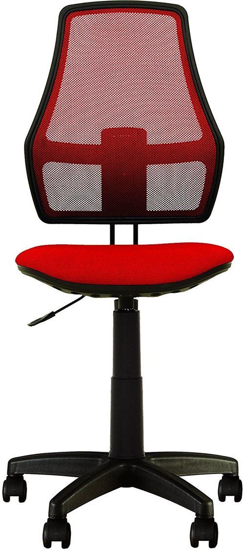 Fauteuil, chaise de bureau pour enfant fox dossier en maille tissu rouge