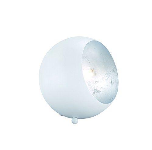 Reality leuchten a + + to e, lampe de table, métal, e14, métal, weiß matt silberfarbig, 14 x 15 x 15 cm, e14