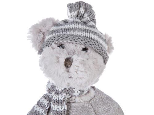 Peluche enfant ourson en hiver - fille - atmosphera
