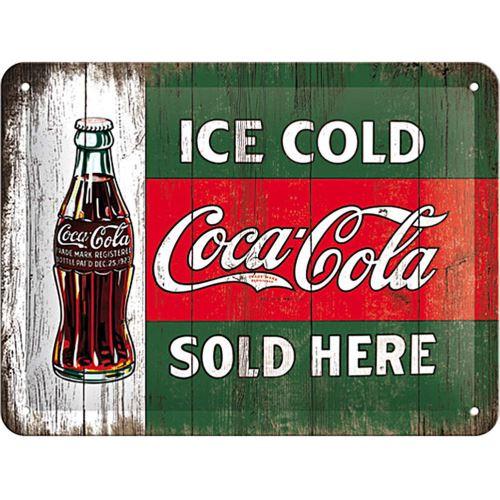Plaque métallique Coca-cola Ice Cold