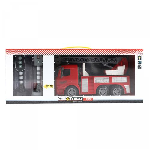 Toi-Toys voiture de pompiers avec feux rouges 58 cm