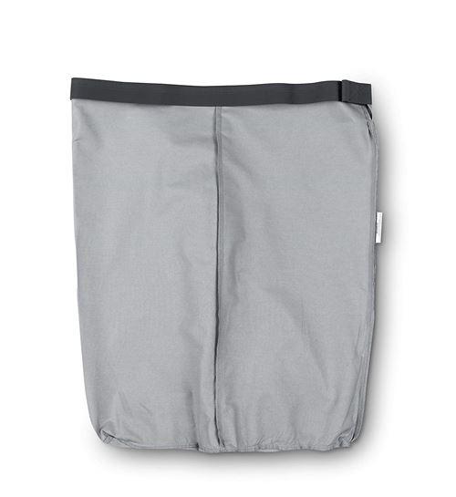 Brabantia Sac intérieur de rechange pour panier à linge, gris, 35 l, Coton, gris, 55 L