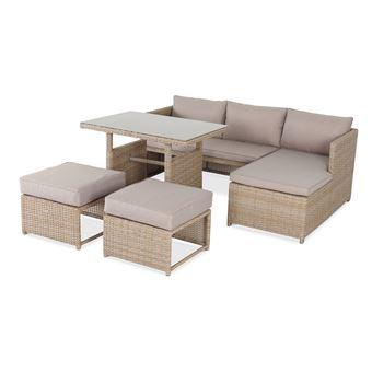 Salon de jardin 6 places - Reggiano - Naturel / beige, table ...