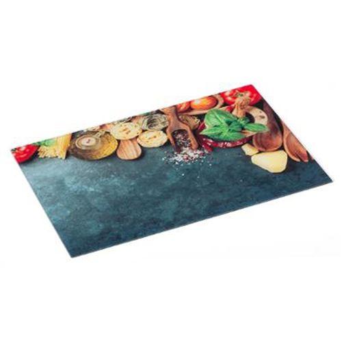 Planche à Découper Verre Italie 30x40cm Multicolore