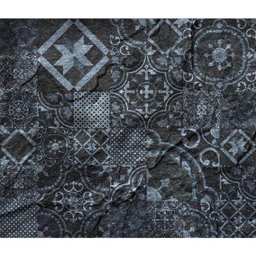 Crédence adhésive en alu imitation Ardoise - L. 20 x l. 20 cm - Noir - Design CPM - Ardoise