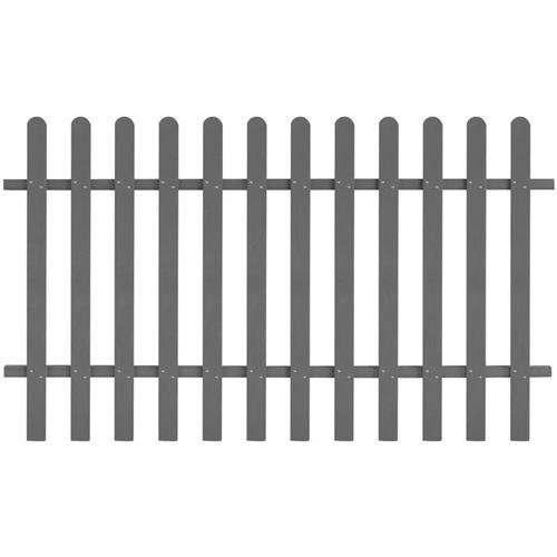 vidaXL Clôture à piquets WPC 200 x 120 cm