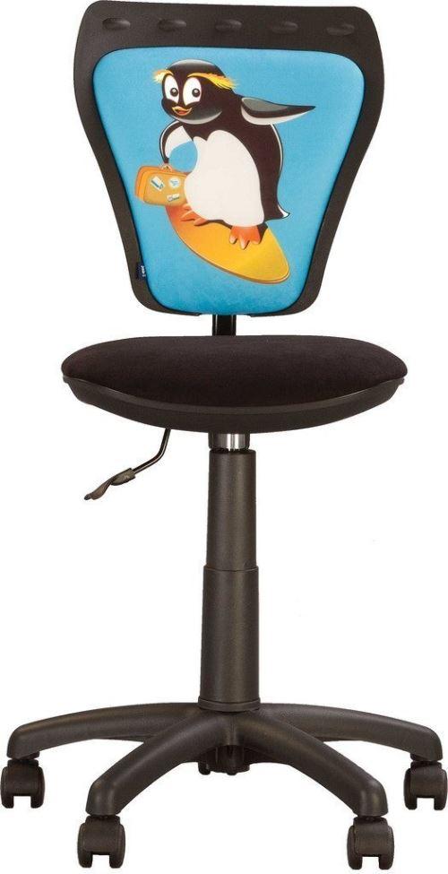 Chaise, Fauteuil De Bureau Enfant Ministyle Pingouin. Noir/ Bleu.