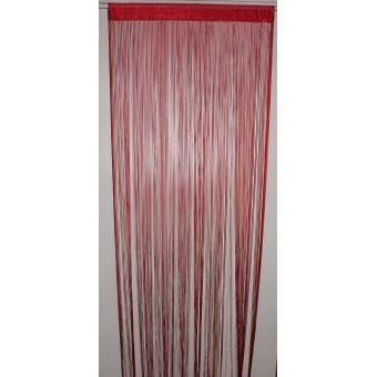 HomeMaison HM69807481 Rideau à Fils Spaghetti Rouge - Achat & prix ...