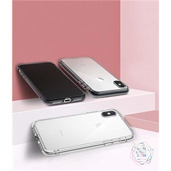 Ringke Coque Compatible avec iPhone XS iPhone X Fusion Transparente Legere Clair PC Back TPU Bumper Etui Anti Choc Protection Technologie Anti Adherence pour iPhone XS Coque Clear