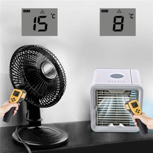 Purificateur,7 Couleurs LED Light Refroidisseur dair Cooler et Ventilateur Nifogo Climatiseur Mobile Portable 3 en 1 Mini Climatiseur Humidificateur