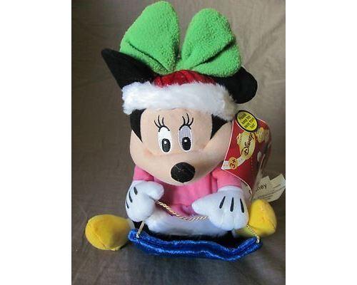 Peluche avec sons Disney Minnie Mouse Wobblin 'Toboggan 11 par Gemmy