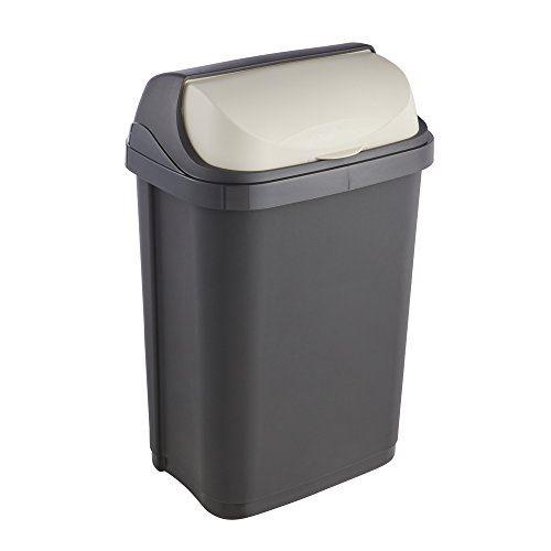 Okt 2053709 roll-top poubelle plastique graphite crème 10 l 1045382600000
