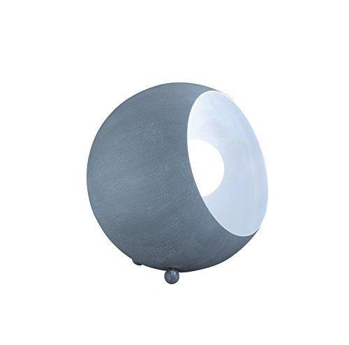 Reality leuchten r50101078 billy a + + to e, lampe de table, métal, e14, betonfarbig blanc, 14 x 15 x 15 cm