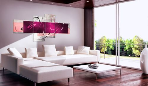 200x90 Tableau Abstraction Magnifique Streamer