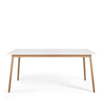 Blanc Table En Skoll Couleur Bois À Manger 160x80cm QrtdChs