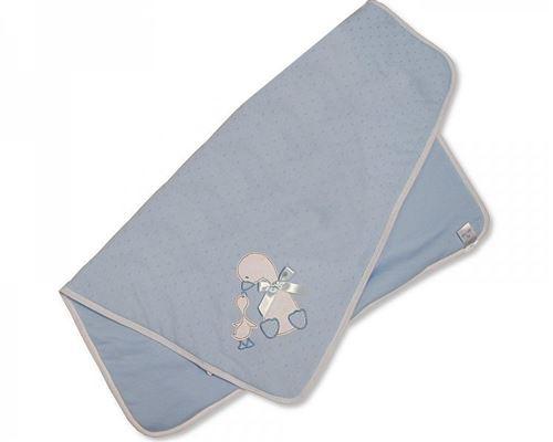 Snuggle Baby couverture bébé canard 70 x 70 cm bleu